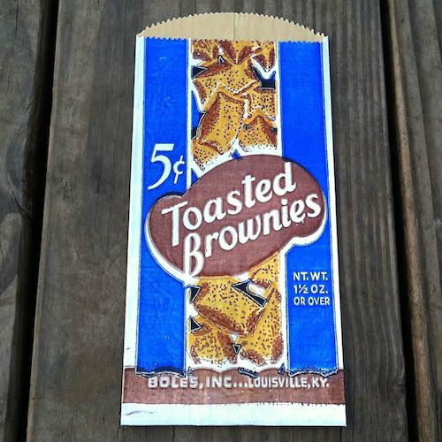 TOASTED BROWNIES Cake Snack Bags 1930s