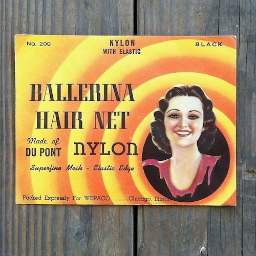 BALLERINA Nylon Hair Net 1940s