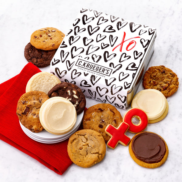 XO Hearts Gift Tin - Each & Every Cookie