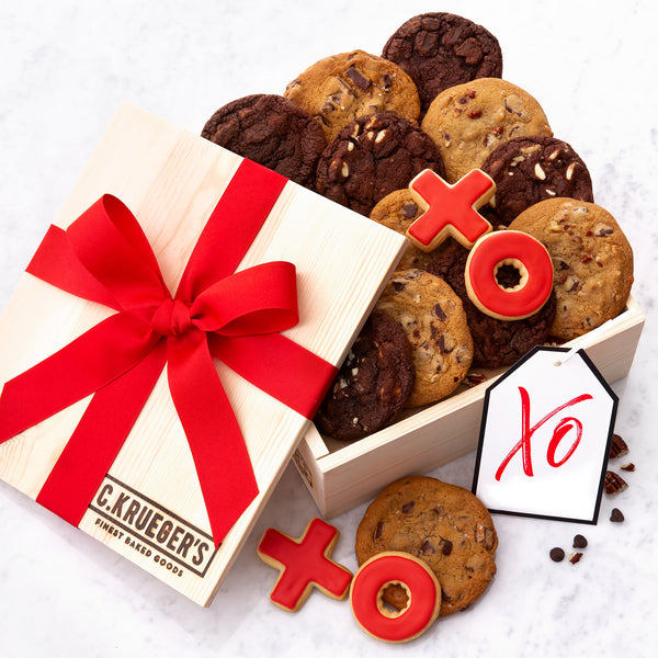 XO Hearts Gift Crate - Belgian Chocolate Assortment