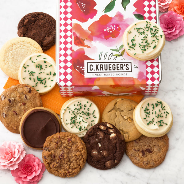 Watercolor Poppies Gift Tin - Each & Every Cookie