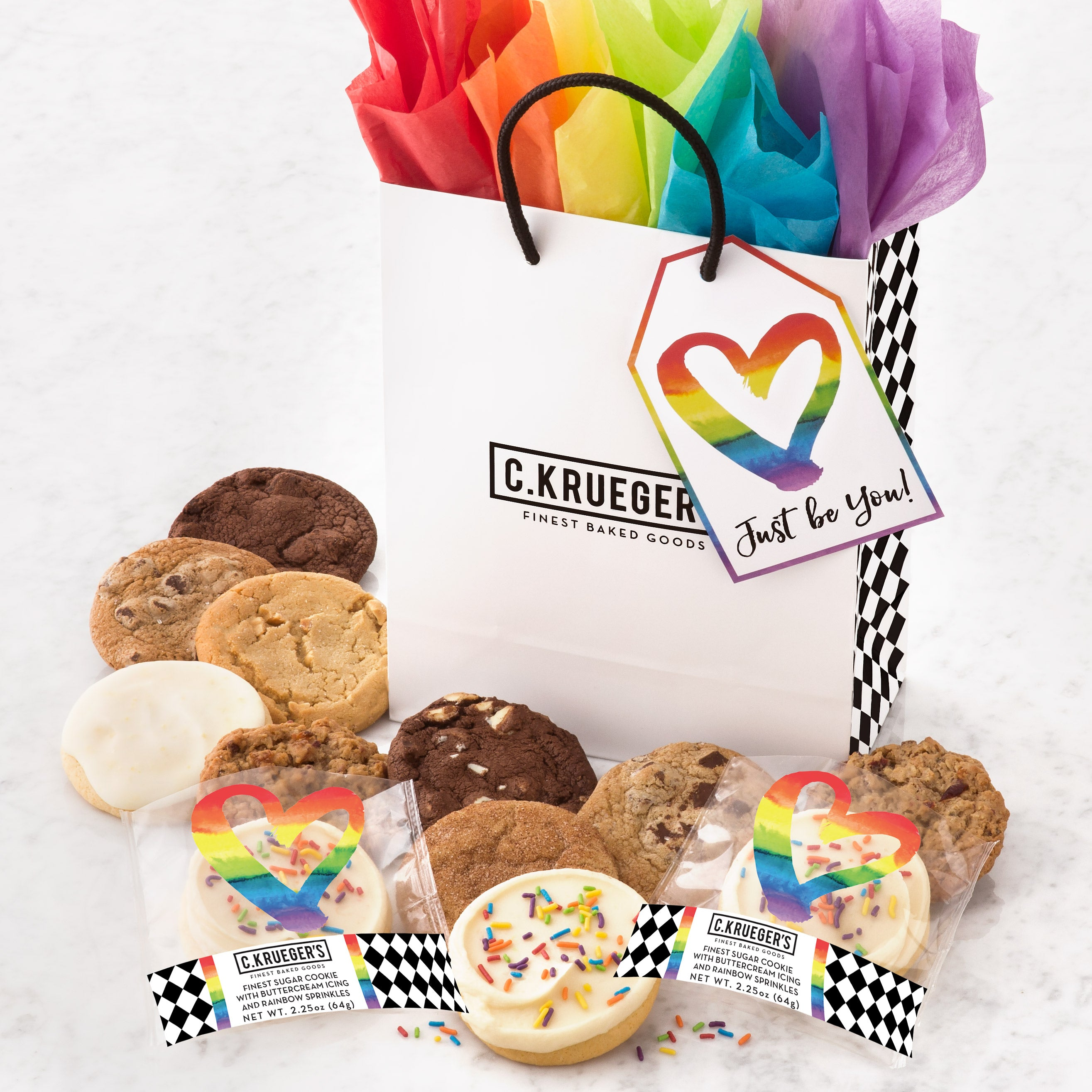 Just Be You Gift Bag - Assorted Cookies