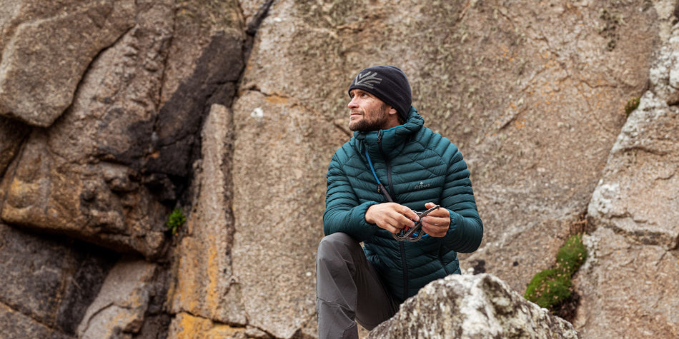 Men's lightweight goose down jacket