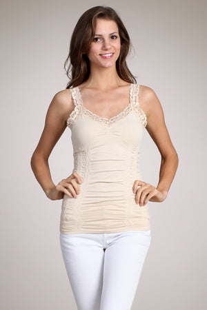 1878  Seamless Cami Corset w/Lace by M.Rena
