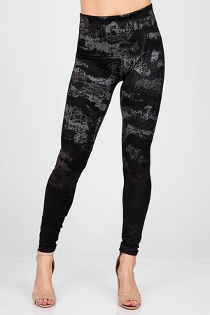 B4437A High Waist Full Length Ombre Camo Leggings