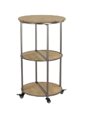 Wood/Metal Bar Cart or Side Table