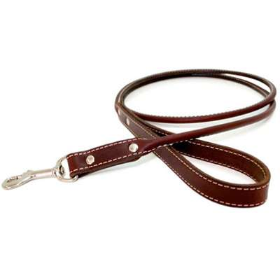 Rolled Leather Dog Leash- 8 color choices