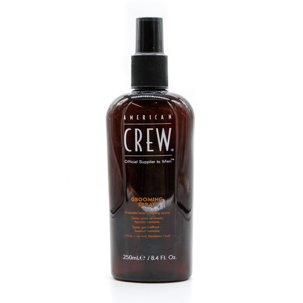 American crew, classic grooming spray, styling hold, fine hair or gray hair spray, easy wash out, non sticky, online shopping, gift, mens styling