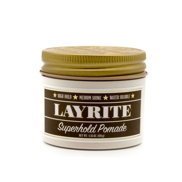 mens grooming products, mens hair products, male grooming tools, skincare, male skincare, Hair, Sydney, Australia, barber, male grooming, mens retail, male style, conditioner, online shopping, mens gifts, barberhood, barbershop, Layrite Superhold Hair Pomade, pomade, hair styling, hair hold
