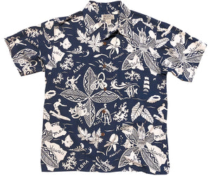 Kings n Islands Navy Hawaiian Shirt