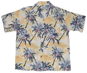 Makai Yellow Retro Hawaiian Shirt (Magnum PI)