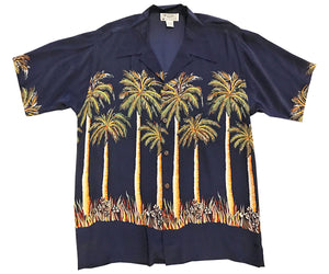 Midnight Palms Retro Hawaiian Shirt (Bruno Mars)
