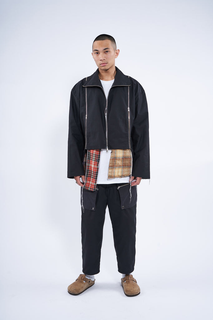 cropped flannel jacket