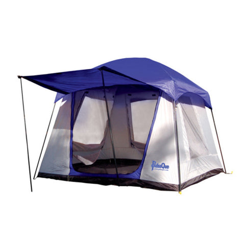 PahaQue Green Moutain 4XD 4 Person Cabin Style Tent in Blue
