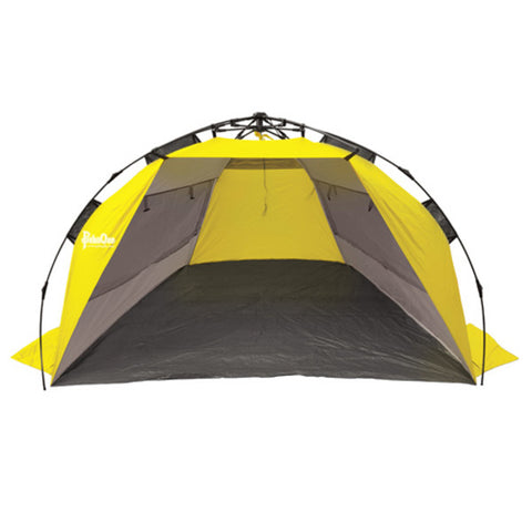 PahaQue Surfline QuickPitch Beach Cabana, Gray/Yellow
