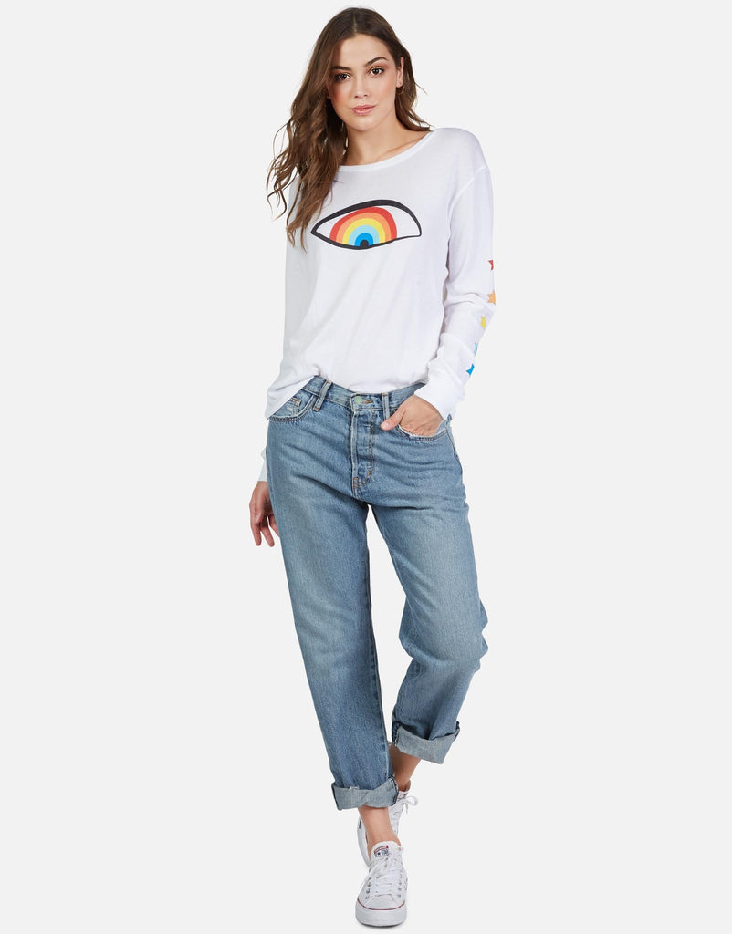 Rooney Starry Rainbow Eye Long Sleeve T-Shirt