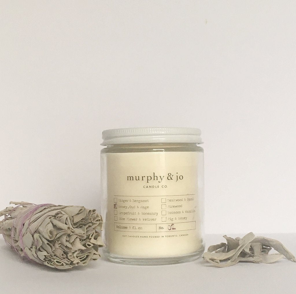 Honey, Oud & Sage Candle