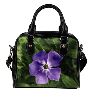 Shoulder Bag - Purple Periwinkle Irish Wildflower Shoulder Bag Moods of Ireland