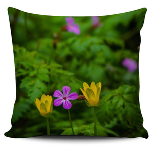 Pillow Cover - Irish Spring Wildflowers at Thoor Ballylee in County Galway