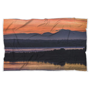 Shannon Estuary Reflections - Sherpa Blanket Blanket wc-fulfillment