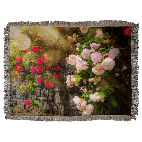 Image of Irish Roses Woven Blanket Woven Blanket Moods of Ireland 60x80 inch