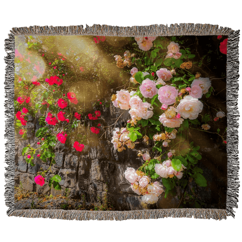 Irish Roses Woven Blanket Woven Blanket Moods of Ireland 50x60 inch