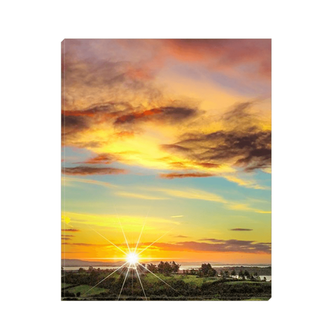 Canvas Wrap - Autumn Sunrise over Shannon Estuary Canvas Wrap Moods of Ireland 8x10 inch