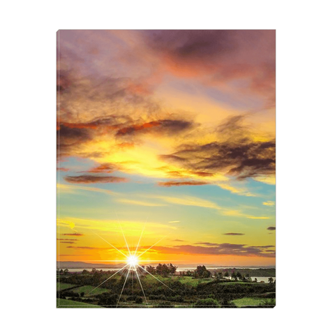 Canvas Wrap - Autumn Sunrise over Shannon Estuary Canvas Wrap Moods of Ireland 11x14 inch