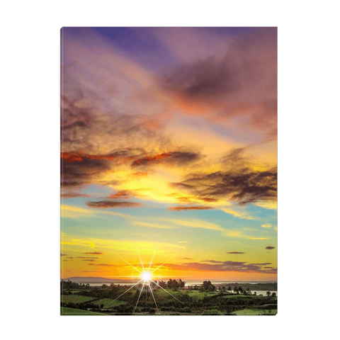 Canvas Wrap - Autumn Sunrise over Shannon Estuary Canvas Wrap Moods of Ireland