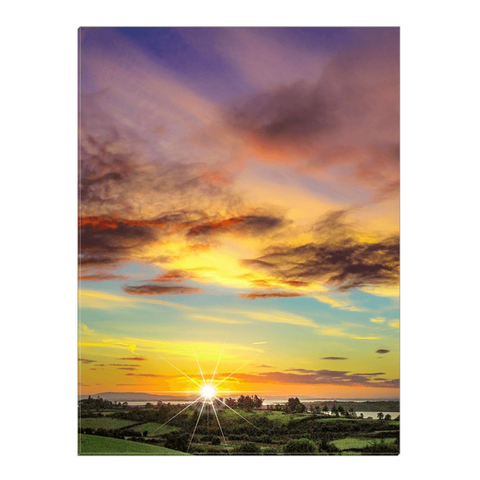 Canvas Wrap - Autumn Sunrise over Shannon Estuary Canvas Wrap Moods of Ireland 18x24 inch