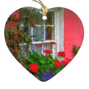 Porcelain Ornament - Bunratty Cottage Windowbox