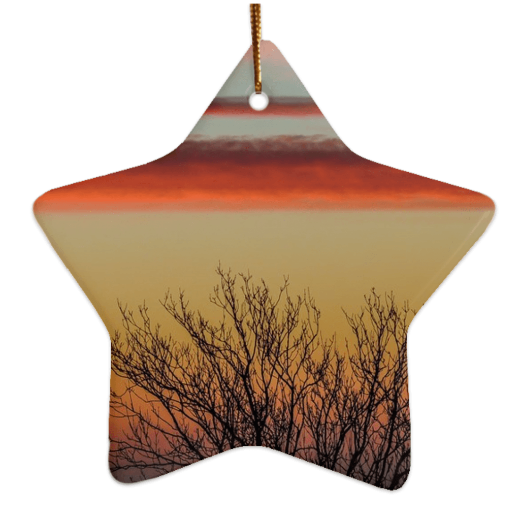 Porcelain Ornaments - Enchanted Irish Sunrise Ornaments Moods of Ireland Star