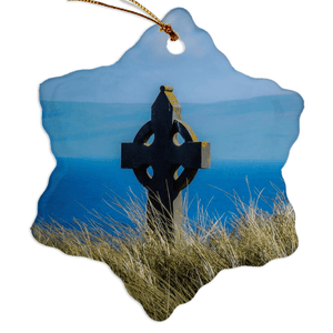 Porcelain Ornaments - Celtic Cross & Atlantic Ocean