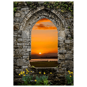 Flat Card - Magical Irish Spring Sunrise Flat Card Moods of Ireland 25 Cards