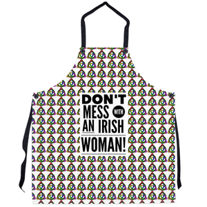 Apron - Rainbow Triquetra - Don't Mess with an Irish Woman! Apron Moods of Ireland 29.5x32 inch