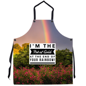 Apron - I'm the Pot of Gold at the end of Your Rainbow! Apron Moods of Ireland 29.5x32 inch