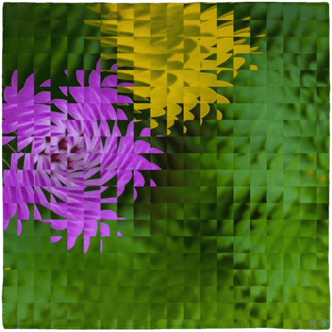 Image of Scarves - Irish Wildflowers Scarf Moods of Ireland 50x50 inch