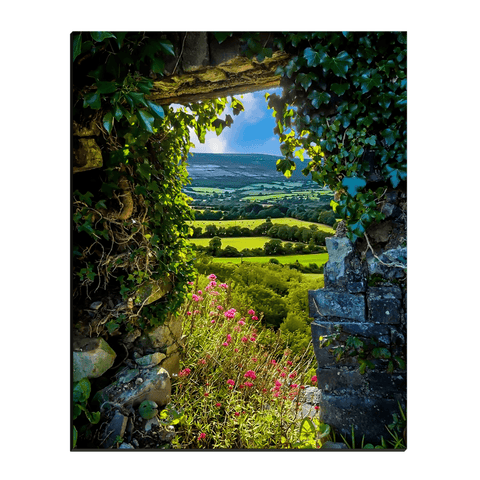 Canvas Wraps - Secret Irish Garden, County Clare, Ireland Canvas Wrap Moods of Ireland 16x20 inch