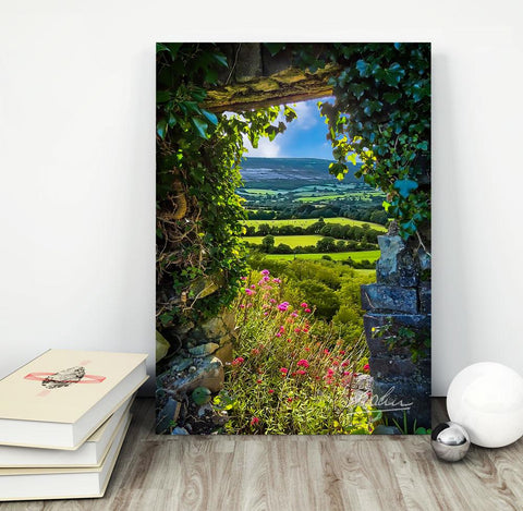 Canvas Wraps - Secret Irish Garden, County Clare, Ireland Canvas Wrap Moods of Ireland