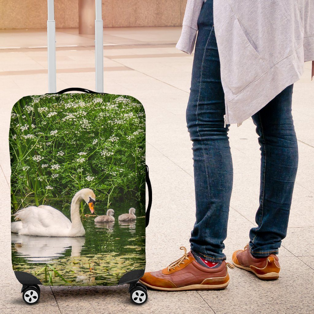 Luggage Cover - Swan and Cygnets at Doneraile Park, County Cork Luggage Cover Moods of Ireland