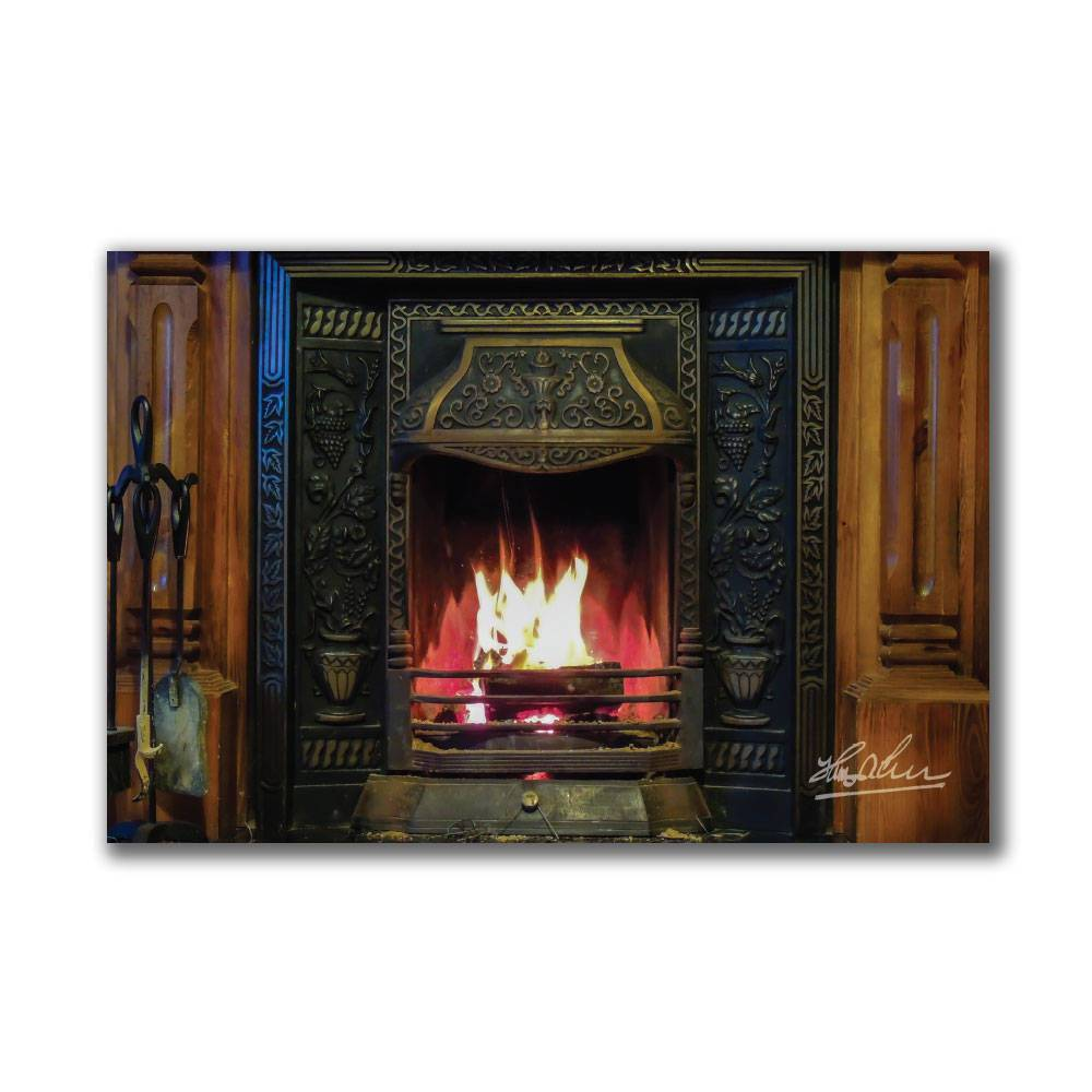 Irish Turf Fire in Fireplace Poster Print Poster Moods of Ireland