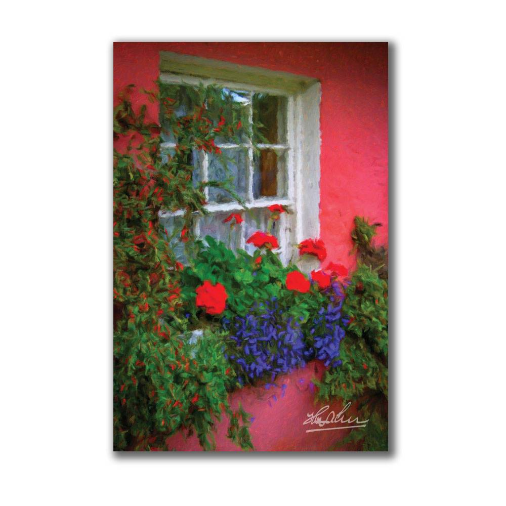 Irish Cottage Window at Bunratty Poster Poster Moods of Ireland