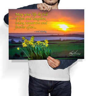 May Your Life Be Full of Love and Laughter, Irish Blessing Poster
