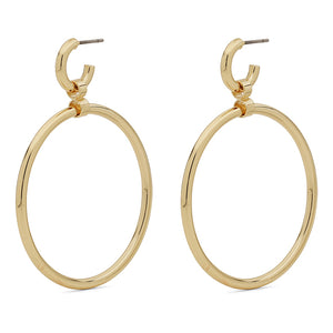 Gold Ring Hoop Earrings