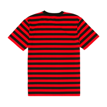 Load image into Gallery viewer, Fuck Stripes Embroidered Tee Black/Red/White