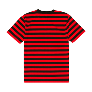 Fuck Stripes Embroidered Tee Black/Red/White