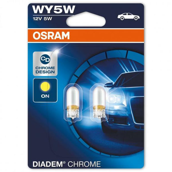 Diadem Chrome WY5W Styling Indicator Bulbs (Twin Blister)