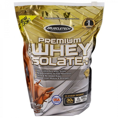 MUSCLETECH, PREMIUM 100% WHEY ISOLATE PLUS, 3.00 LBS