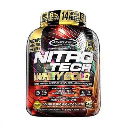MUSCLETECH, NITROTECH WHEY GOLD,6 LBS.