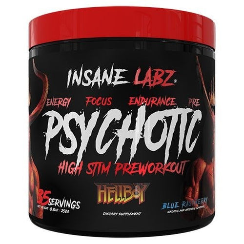 INSANE LABZ PSYCHOTIC PREWORKOUT HELL BOY SERIES, 35 SERVINGS